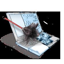 как разобрать и почистить ноутбук