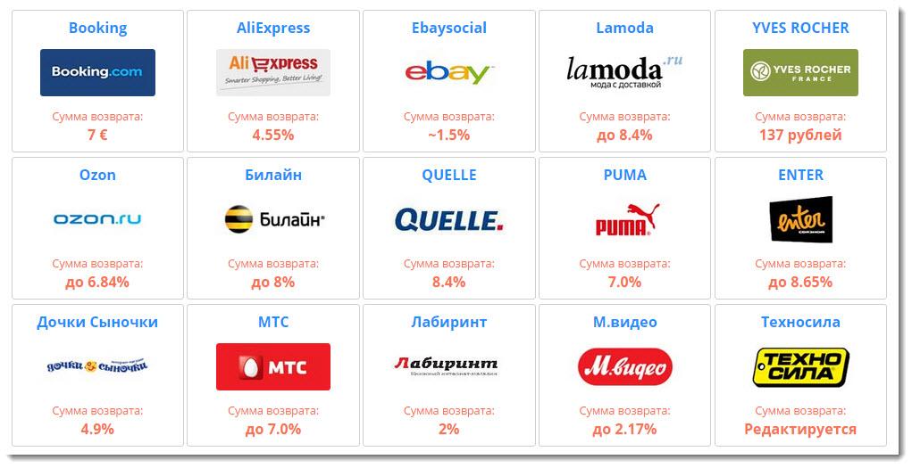 Cashback.ru - Деньги назад за Интернет покупки