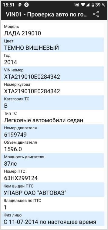 данные истории регистрации