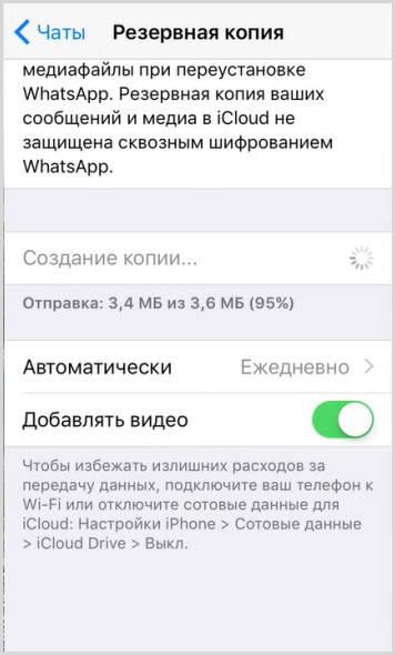 iCloud резервная копия